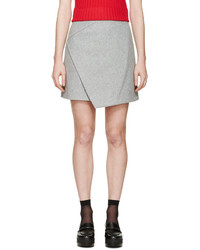 Grey wool wrap skirt medium 366655