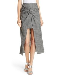 AMU R Zola Knot Front Stretch Wool Skirt