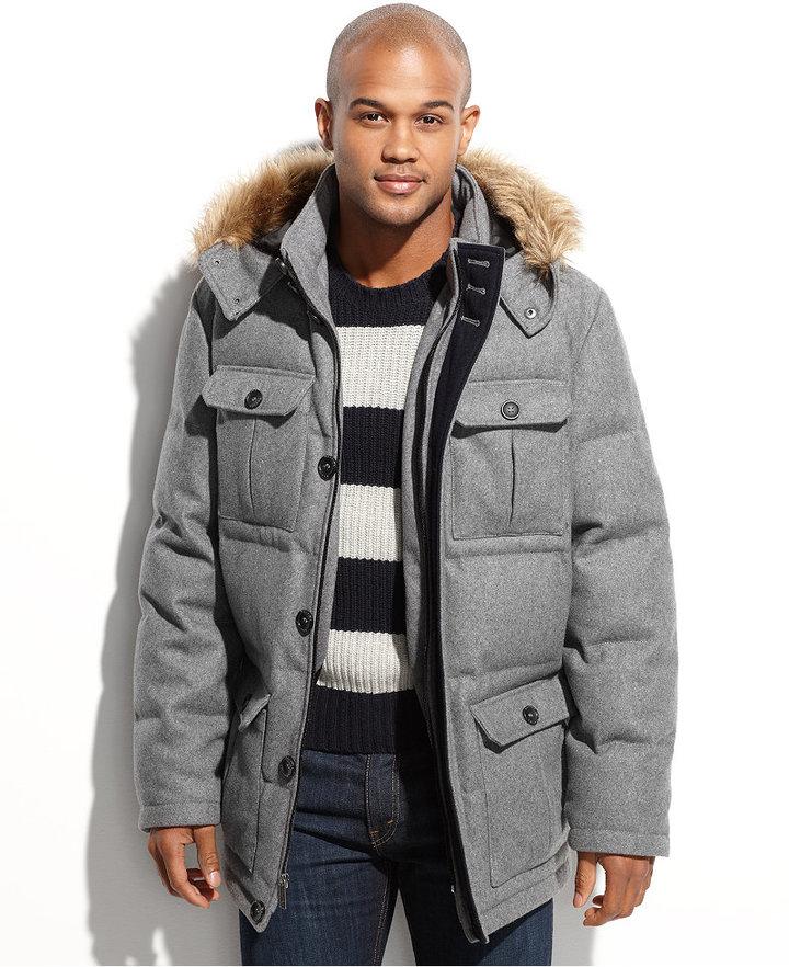 Grey Wool Parka