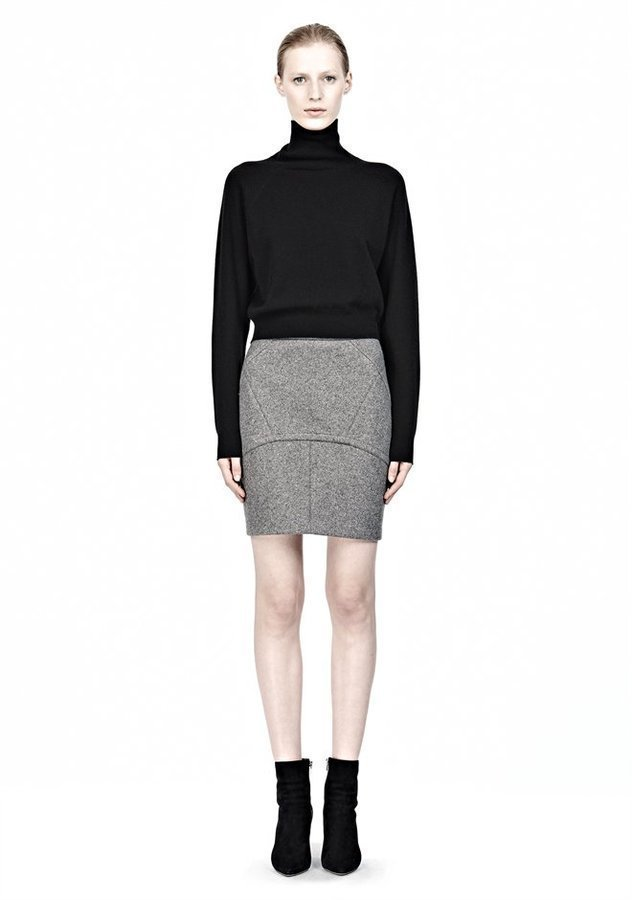 how to wear wool skirt