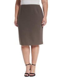 Lafayette new york 148 plus revelin wool pencil skirt lead plus size medium 832164