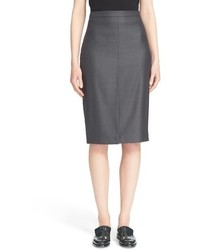 Nestore wool blend pencil skirt medium 517299