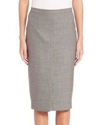 Max Mara Nestore Wool Blend Pencil Skirt