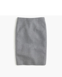 J.Crew Petite No 2 Pencil Skirt In Double Serge Wool