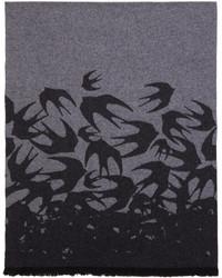 McQ Alexander Ueen Grey Swallow Scarf