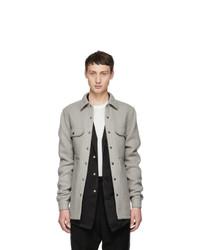Rick Owens Grey Outershirt Jacket