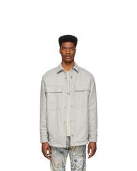 Fear Of God Grey Wool Shirt Jacket