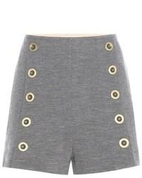 Embellished wool shorts medium 1159569