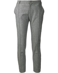 Grey Wool Skinny Pants