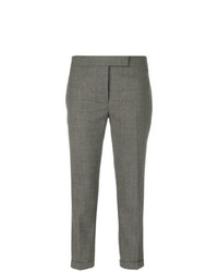 Thom Browne Lowrise Skinny Trousers In Medium Grey 2 Ply Wool Fresco
