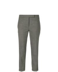 Thom Browne Lowrise Skinny Trousers In Medium Grey 2 Ply Wool Fresco