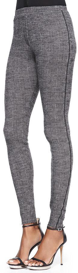 IRO Saskia Wool Blend Plaid Skinny Pants