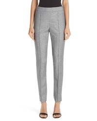 St. John Collection Sharkskin Stretch Wool Blend Skinny Ankle Pants