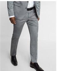 Skinny innovator gray wool blend oxford suit pant medium 5027190
