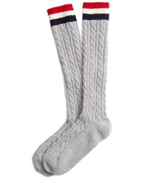 Brooks Brothers Cable Knit Socks
