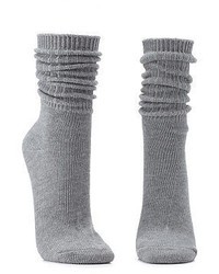 Charlotte Russe Ribbed Crew Socks