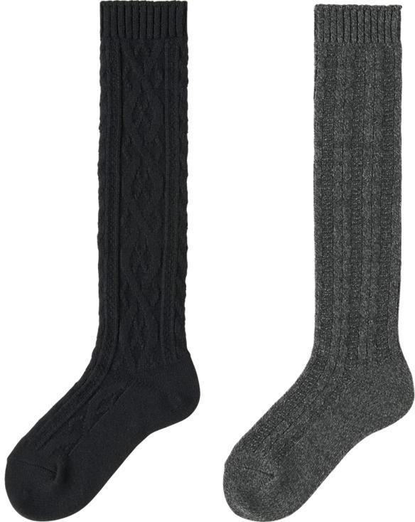 b9811e4ee15 Uniqlo Heattech Knee High Socks 2 Pairs