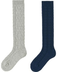 Uniqlo Heattech Knee High Socks 2 Pairs