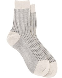 Maria La Rosa Ribbed Socks Grey