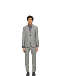 Maison Margiela Black And Off White Wool Microfantasy Suit