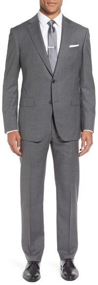 Pal Zileri Classic Fit Solid Wool Suit