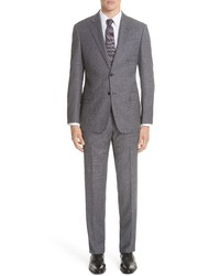 Emporio Armani G Line Trim Fit Birds Eye Wool Suit