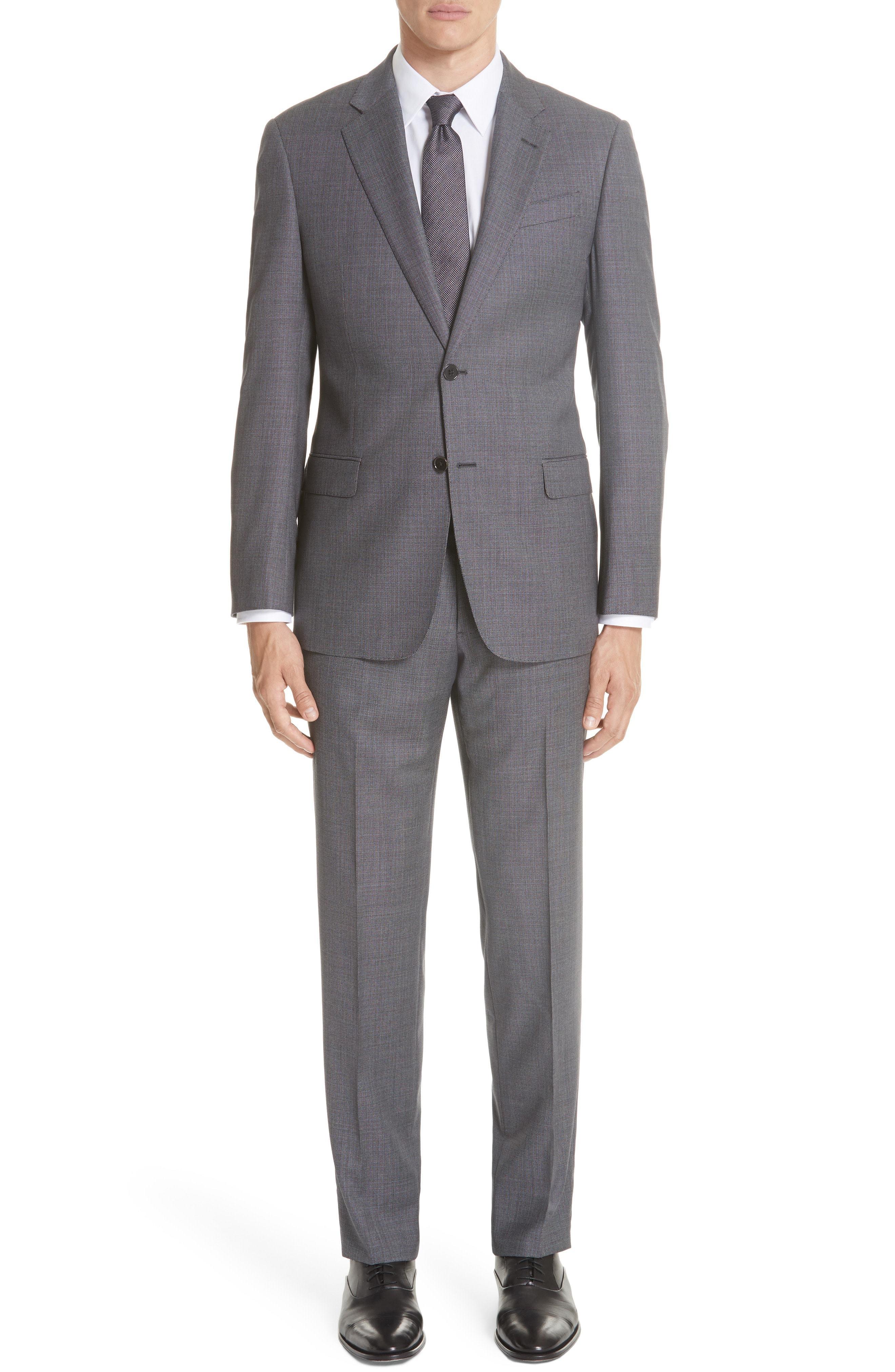 Emporio Armani G Line Trim Fit Birds Eye Wool Suit