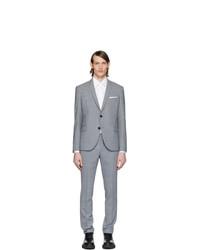 Neil Barrett Grey Fine Travel Suit
