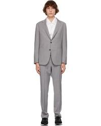 Z Zegna Grey Techmerino Wool Wash Go Suit