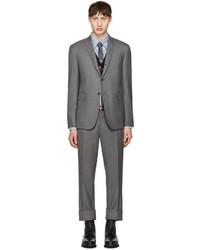 Grey wool classic suit medium 1151377