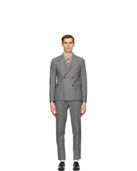 Z Zegna Grey Wool Double Breasted Suit