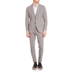 Eleventy Modern Fit Jersey Stretch Two Button Suit