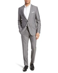 BOSS Novanben Trim Fit Solid Wool Suit