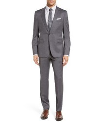 BOSS Ryanwin Trim Fit Solid Wool Suit