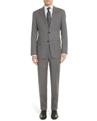 Emporio Armani Trim Fit Sharkskin Wool Suit