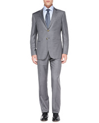 Giorgio Armani Wall St Woolcashmere Suit Light Gray