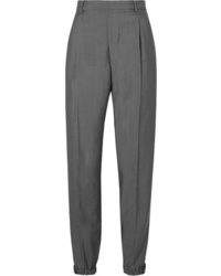 Prada Appliqud Wool And Straight Leg Pants