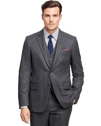 Brooks Brothers Fitzgerald Fit Three Piece Flannel 1818 Suit