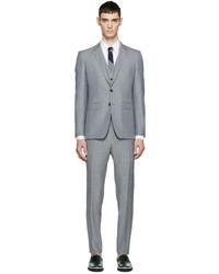 Burberry London Grey Wool Slim Three Piece Suit