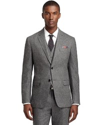 Brooks Brothers Milano Fit Donegal Tweed Three Piece 1818 Suit
