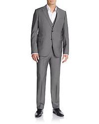 Armani Collezioni Regular Fit Virgin Wool Mohair Three Piece Suit