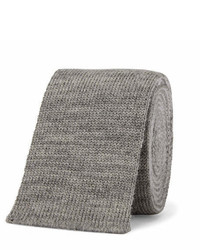 Thom Browne 5cm Striped Knitted Mlange Wool Tie
