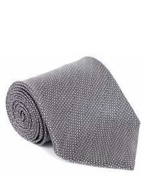 Tom Ford Grey Wool Micro Square Wide Neck Tie