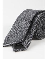 Mango Herringbone Wool Blend Tie