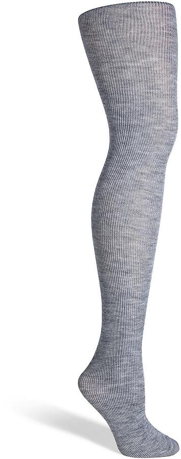 0d4370a5a93ff Fogal Grey Heather Wool Silk Cashmere Nepal Tights, $190 | STYLEBOP ...