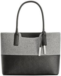 Grey Wool Tote Bag