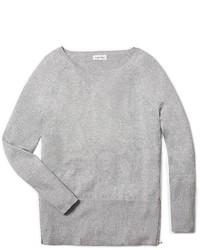 Calvin Klein Lurex Side Zip Detail Tunic Sweater