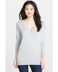 Halogen Deep V Neck Sweater