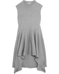 Marni Double Faced Wool Blend Jersey Tunic Gray