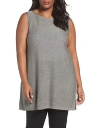 Eileen Fisher Plus Size Tencel Wool Sleeveless Tunic